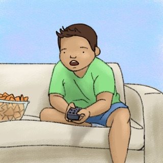 Screen Time & Obesity Artwork